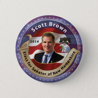 Elect Scott Brown for Senator of New Hampshire 2 Inch Round Button