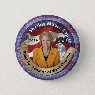 Elect Shelley Moore Capito for Senator of W.V. 2 Inch Round Button