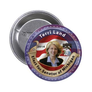 Elect Terri Land for Senator of Michigan - 2014 2 Inch Round Button