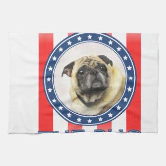 Elect The Pug Towel