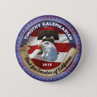 Elect Timothy Charles Kalemkarian for Senator 2 Inch Round Button
