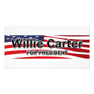 Elect Willie Carter Personalized Photo Card