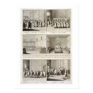 Electing the Pope, from the 'Encyclopedia' by Deni Postcard