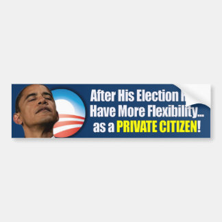 Election 2012 - Anti Obama Bumper Sticker