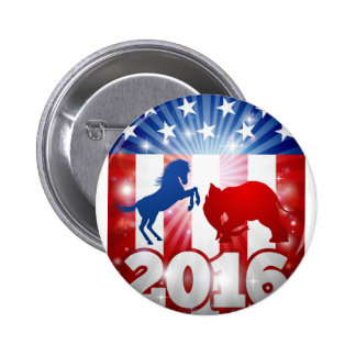 Election 2016 Donkey vs Elephant Concept 2 Inch Round Button