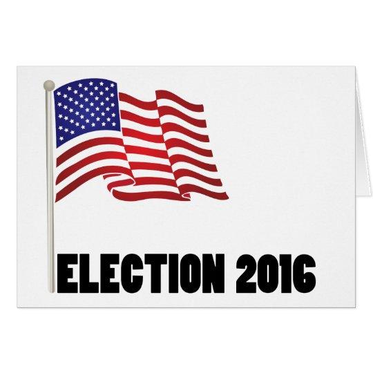 Election 2016 Flag Card