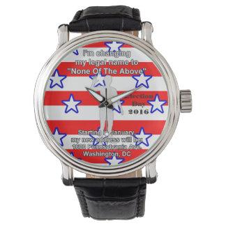 Election 2016 wrist watch