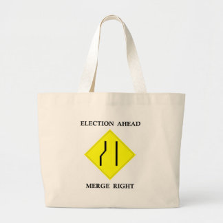 Election Ahead Merge Right Canvas Bag