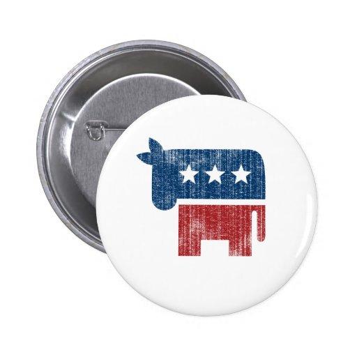 election animal donkey democrat pinback buttons