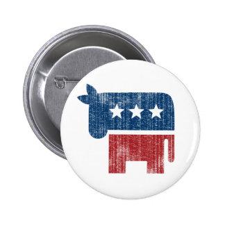 election animal donkey democrat button