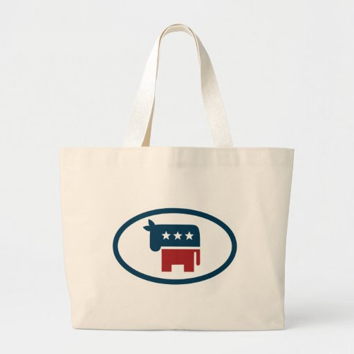 Election animals: donkey canvas bags