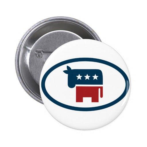 Election animals: donkey button