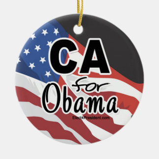 Election California for Obama Ceramic Ornament