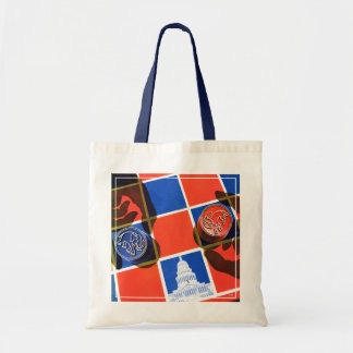 Election Checkerboard Budget Tote Bag