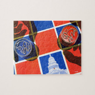 Election Checkerboard Jigsaw Puzzle