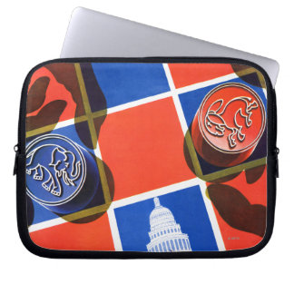Election Checkerboard Computer Sleeve