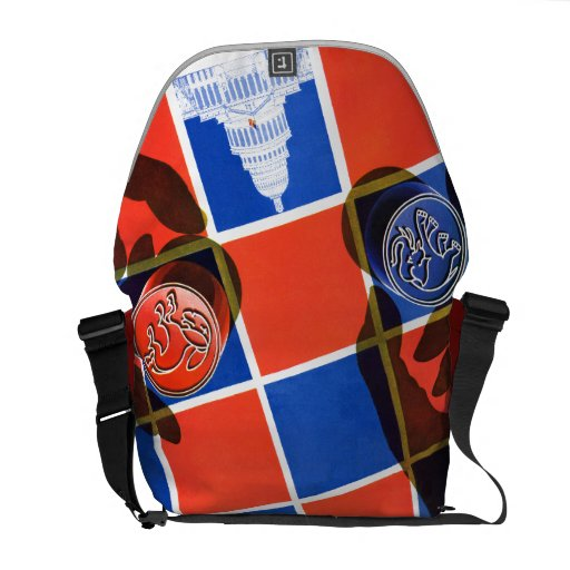 Election Checkerboard Courier Bags