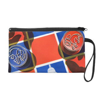 Election Checkerboard Wristlet Clutches