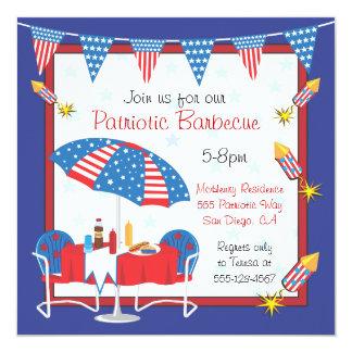 Election Day Patriotic Picnic BBQ Party Invitation