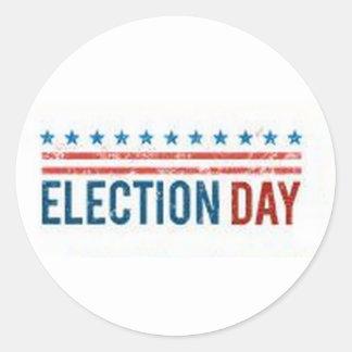 Election Day Round Sticker