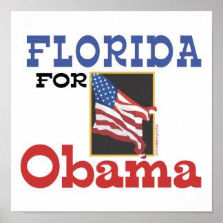 Election Florida for Obama Poster