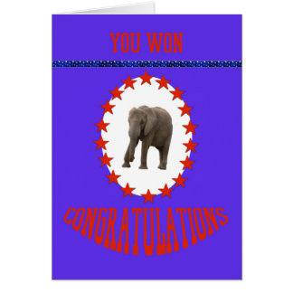 Election Win Congratulations with Elephant Card