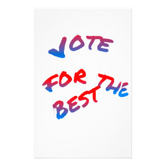 Elections, Vote for the best Stationery