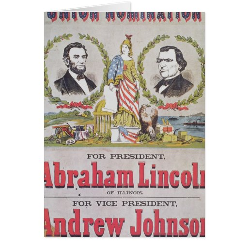 Electoral campaign poster for the Union Greeting Card