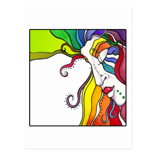 Electra Pop Art Diva Postcard