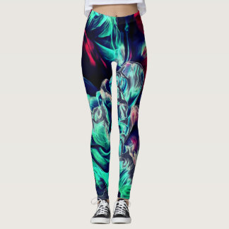 electric 3D smoke womens leggings