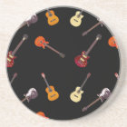 Electric & Acoustic Guitar Collage Coaster