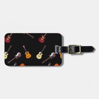 Electric & Acoustic Guitar Collage Luggage Tag