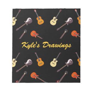 Electric & Acoustic Guitar Collage Notepad