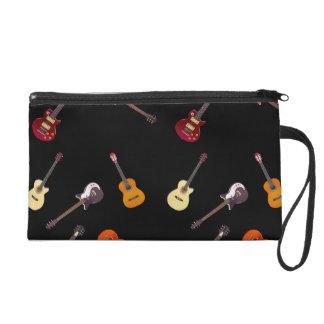 Electric & Acoustic Guitar Collage Wristlet Purses