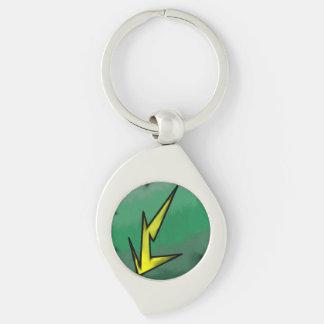 Electric Affinity Swirl Keychain
