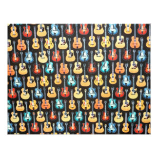 Electric and Acoustic Guitars Scrapbook Letterhead
