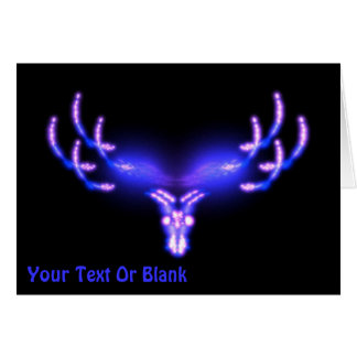 Electric Antlers Fractal Card