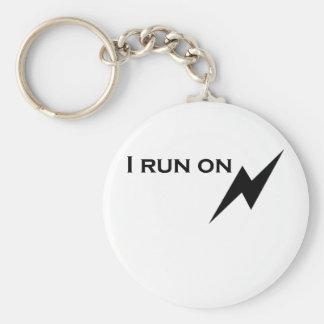 Electric Basic Round Button Keychain