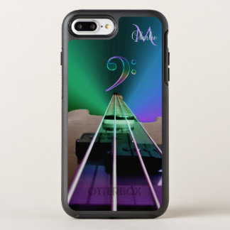 Electric Bass Guitar Colorful Monogram OtterBox Symmetry iPhone 7 Plus Case