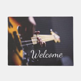 Electric Bass Guitar Player Doormat