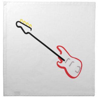 Electric Bass Guitar Printed Napkin