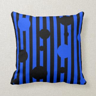 Electric Black Throw Pillow