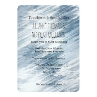 Electric Blue Abstract Wedding 5x7 Paper Invitation Card