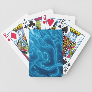 Electric Blue Bicycle Playing Cards