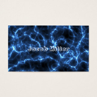 Electric blue business card