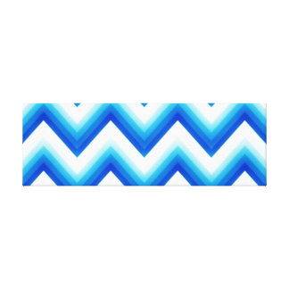 Electric Blue Chevron Canvas Print