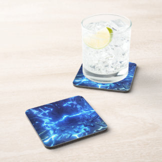 Electric Blue Cork Coaster