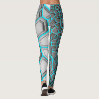 Electric Blue Digital Realism Leggings