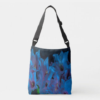 Electric Blue Flower Crossbody bag