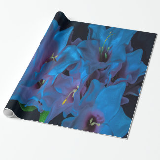 Electric Blue Flower wrapping paper